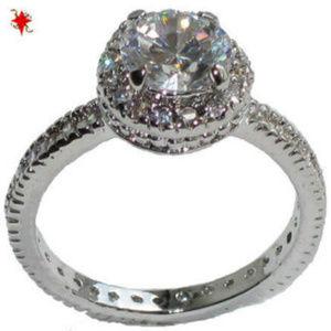 Ring wedding engagement Swarovski stones NWT